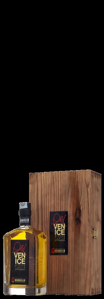 """Linea Old Grappa """"Venice"""" Grappa Riserva di Prosecco Cassetta in legno - Distilleria Brunello"""